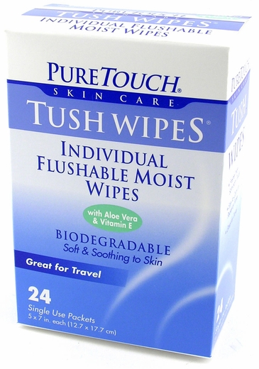 Tush Wipes - Flushable Personal Cleansing Pads