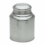 Irregular Large Stainless Steel Tea Canister (10.6 oz - 17.3 oz)