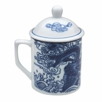 Chinese Dragon Mug with Lid