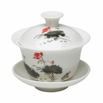 Traditional Lotus Flower Gaiwan Cup