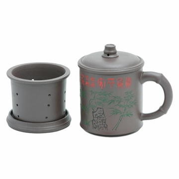 Bamboo Forest Yixing Clay Mug with Infuser