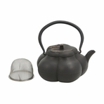 Black Squash Cast Iron Teapot