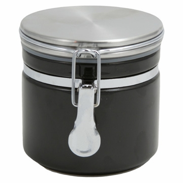 Black Ceramic Canister (5.3 oz - 8.7 oz)