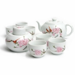 Traditional Bird on Peach Blossom Tea Set