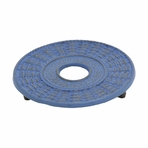 Blue Traditional Cast Iron Trivet
