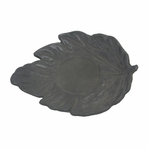 Black Maple Leaf Cast Iron Saucer