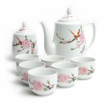 Classical Chinese Peach Blossom Tea Set