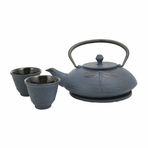 Blue Dragonfly Cast Iron Tea Set