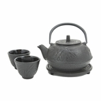 Black Bamboo Cast Iron Tea Set