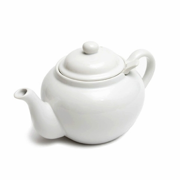 White Teapot with Infuser
