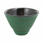 Green Nail Head Cast Iron Teacup