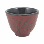 Red Bamboo Cast Iron Teacup