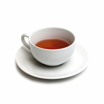 White Teacup with Saucer