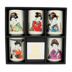 Geisha Girl 5 Piece Teacup Set