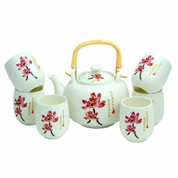 Lotus Flower Porcelain Tea Set