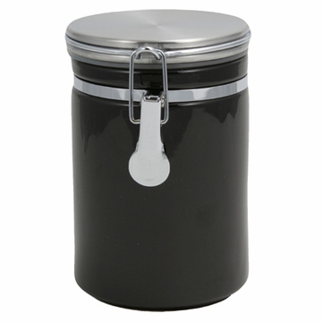 Large Black Ceramic Canister (8.7 oz - 14.2 oz)