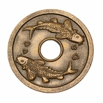 Bronze Japanese Koi Cast Iron Trivet