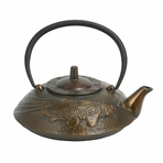 Bronze Japanese Koi Cast Iron Teapot