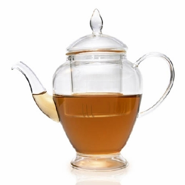 Calming Sea Filtering Glass Teapot