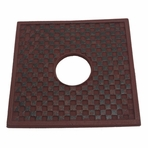 Red Cast Iron Square Trivet