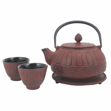 Red Classical Tetsubin Set