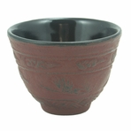 Red Crane Iron Cast Teacup