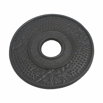 Black Bamboo Cast Iron Trivet