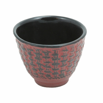 Red Traditional Cast Iron Teacup