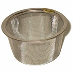 "Replacement Stainless Steel Mesh Infuser for Cast Iron Teaware (2 1/2"" - 2 7/8"" dia, 1 1/2"" ht)"
