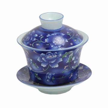 Small Blue Flower Gaiwan