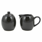 Black Cream and Sugar Set