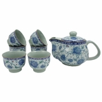 Elegant Flowers Tea Set