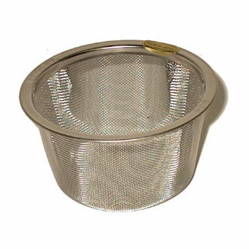"Replacement Stainless Steel Mesh Infuser for Cast Iron Teaware (2 1/2"" - 2 7/8"" dia, 2 1/2"" ht)"