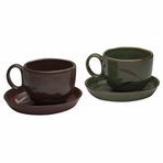 Traditional Ceramic Cup & Saucer Set