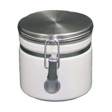 White Ceramic Canister (5.3 oz - 8.7 oz)