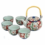 Japanese Bamboo Floral Tea Set