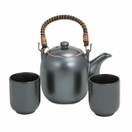 Japanese Black Serenity Tea Set