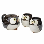 Japanese Lucky Longevity Owl Tea Set