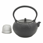 Large Leaf Cast Iron Teapot