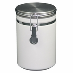 Large White Ceramic Canister (8.7 oz - 14.2 oz)