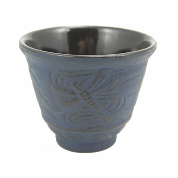 Blue Dragonfly Cast Iron Teacup