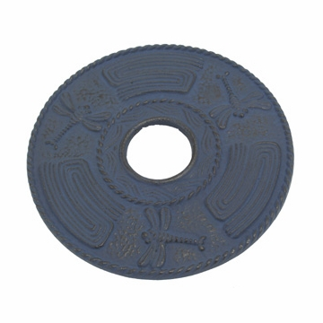 Blue Dragonfly Cast Iron Trivet
