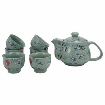 Nine Crane Tea Set