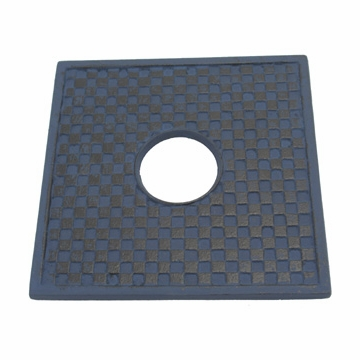 Blue Cast Iron Square Trivet