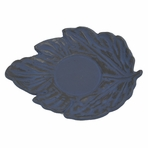 Blue Maple Leaf Cast Iron Saucer