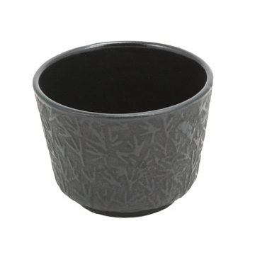 Black Pine Needle Cast Iron Teacup