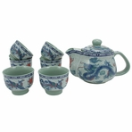 Phoenix Dragon Tea Set