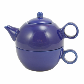 Blue Teapot with Cup