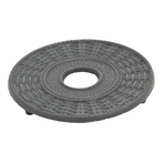 Black Traditional Cast Iron Trivet
