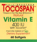 Tocospan the ALL NATURAL Full Spectrum Vitamin E: